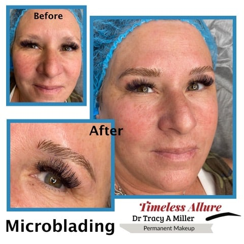 Microblading Before and After Procedure