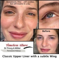 Clasic Upper Eyeliner with wing
